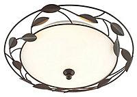 Cloe Brushed Brown Bronze effect 2 Lamp Ceiling light