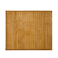 Closeboard Fence panel (W)1.83m (H)1.52m, Pack of 5