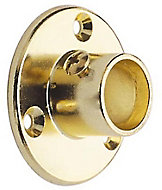 Colorail Brass effect Die-cast metal Rail centre socket (Dia)19mm, Pack of 2