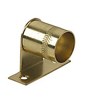 Colorail Brass effect Steel Rail centre bracket (Dia)19mm, Pack of 2