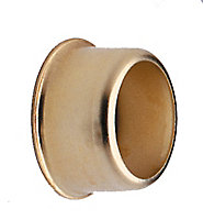 Colorail Brass effect Steel Rail centre socket (Dia)19mm, Pack of 2