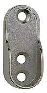 Colorail Chrome effect Die-cast metal Rail centre socket (Dia)20mm, Pack of 2