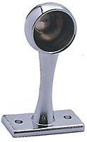 Colorail Chrome effect Die-cast metal Rail end bracket (L)63mm (Dia)19mm, Pack of 2