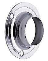 Colorail Chrome effect Rail centre socket (Dia)25mm, Pack of 2