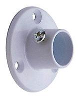 Colorail White Die-cast metal Rail centre socket (Dia)25mm, Pack of 2