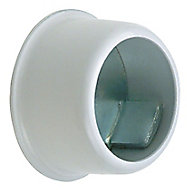Colorail White Steel Rail centre socket (Dia)25mm, Pack of 2