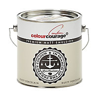 colourcourage Dusty porcelain Matt Emulsion paint 2.5