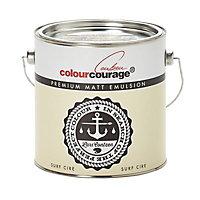 colourcourage Surf cire Matt Emulsion paint 2.5