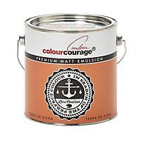 colourcourage Terra de siena Matt Emulsion paint 2.5