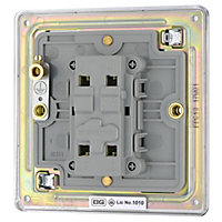 Colours 10A 2 way Chrome effect Single Intermediate switch
