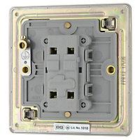 Colours 10A Nickel effect Single Intermediate switch