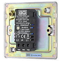 Colours 2 way Single Chrome effect Dimmer switch