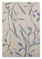 Colours Aaliyah Trailing leaf Beige & blue Rug (L)2.3m (W)1.6m