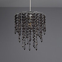 Colours Agassiz Smokey Beaded Light shade (D)250mm