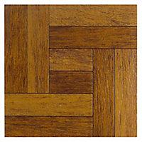 Colours Alaunda Natural Rustic oak effect Vinyl tile, Pack of 6