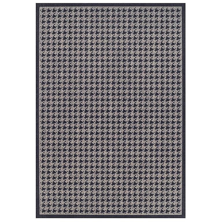 Colours Amara Houndstooth Black Grey Rug L 1 6m W 1 2m Diy At B Q