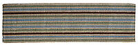 Colours Ambarella Blue, brown & green Runner (L)0.2m (W)0.66m