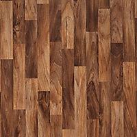Colours Arezzo Natural Walnut effect Vinyl flooring, 6m²