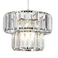 Colours Bayano Clear Crystal effect Faceted Light shade (D)220mm