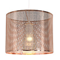 Colours Bilina Copper effect Cut-out Light shade (D)250mm
