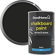 Colours Black Matt Chalkboard paint, 1L