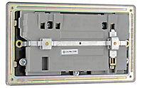 Colours Black Nickel effect Double USB socket, 2 x 2.1A USB