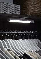 Colours Buhl Matt White Battery-powered LED Under cabinet light IP20 (W)250mm