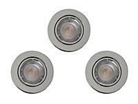 Colours Chrome effect Adjustable LED Downlight 4.9W IP20, Pack of 3