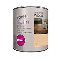Colours Clear Satin Furniture Wood varnish, 0.25L