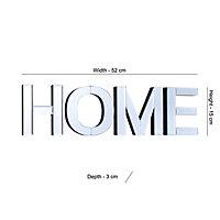 Colours Cori Clear Frameless Mirror (H)150mm (W)520mm