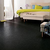 Colours Dizi Black Marble effect Vinyl flooring, 6m²