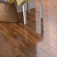 Colours Dolce Walnut effect Laminate Flooring, 1.19m² Pack