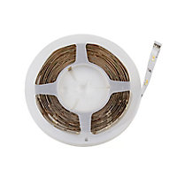 Colours Driggs Mains-powered LED White Strip light IP20 600lm (L)5m