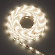 Colours Emmett Mains-powered LED White Strip light IP65 400lm (L)5m