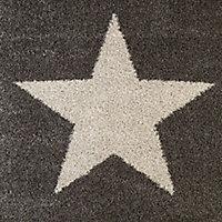 Colours Felicity Star Cream & grey Rug (L)1.7m (W)1.2m