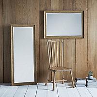 Colours Felton Oak effect Rectangular Framed Mirror (H)1525mm (W)635mm