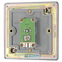 Colours Flat Black nickel effect Single Coaxial socket