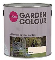 Colours Garden Ivory Matt Wood paint, 2.5L