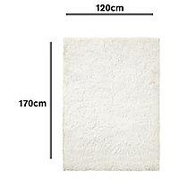 Colours Gemima Plain Cream Rug (L)1.7m (W)1.2m