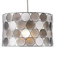 Colours Gilort Capiz grey Circles Light shade (D)290mm