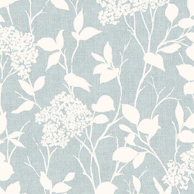 Colours Glenmara Blue White Floral Mica Effect Smooth Wallpaper Diy At B Q