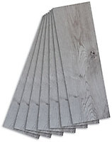 Colours Grey Wood effect Self adhesive Vinyl plank, 0.97m² Pack
