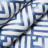 Colours Hadley Blue Geometric Mica effect Smooth Wallpaper