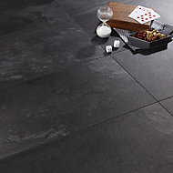 Colours Harmonia Black Slate effect Laminate flooring, 2.05m² Pack