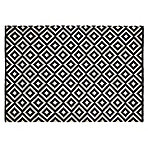Colours Harrieta Geometric Black White Rug L 1 7m W 1 2m Diy At B Q