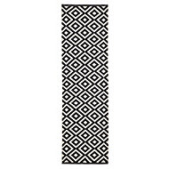 Colours Harrieta Geometric Black & white Runner (L)2m (W)0.6m