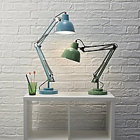 Colours ISAAC Matt Green CFL Desk lamp