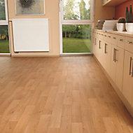 Colours Kade Brown Oak effect Vinyl flooring, 6m²
