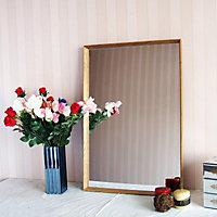 Colours Kahiwa Natural Oak effect Rectangular Framed Framed mirror (H)620mm (W)920mm