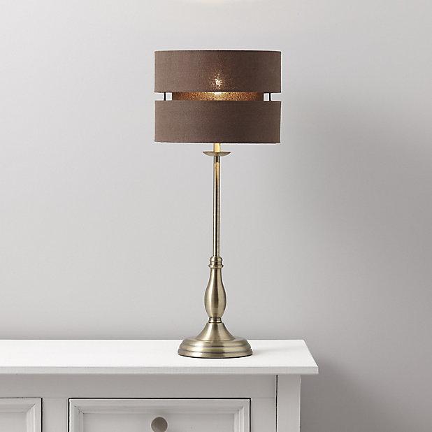 Colours Kennidy Matt Brown Table Lamp Base Diy At B Q